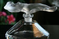 BOHEMIAN ART DECO GLASS PERFUME BOTTLE C. SCHLEVOGT,H.HOFFMANN DESIGN,