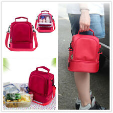 Insulated Lunch Box Double Lunch Tote Bag for Work Men Women Shoulder Straps