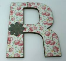 Ashland Rustic Charm Distressed Wall Decor Wooden Letter R Floral New