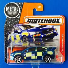 2017 Matchbox 2015 SUBARU WRX STi BRITISH UK POLICE PURSUIT CAR - mint on card!