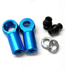 L11495LB M8 8mm Connector RC Alloy Track Rod End Right Thread Blue Metric RC x2