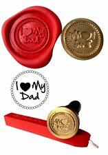 Wax Stamp, I LOVE MY DAD design and Red Wax Stick XWSC029 -KIT