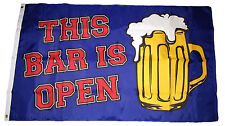 3x5 This Bar Is Open Drinking Beer #2 Premium Quality Flag 3'x5' Banner Grommets