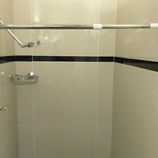 QUICKFIT SHOWER CURTAIN ROD EXTENDABLE TO 120CM  CHROME WHITE