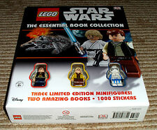 Lego Star Wars The Essentail Book Collection! New w/3 MiniFigures! HTF