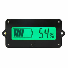 Digital Battery Tester Voltage Capacity Percent Meter DC 8-63V Battery Meter