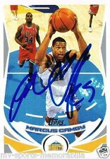 MARCUS CAMBY SIGNED IN-PERSON IP 2004 TOPPS NUGGETS CARD ~AUTHENTIC