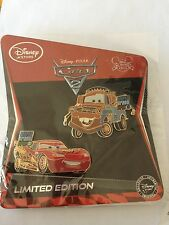 Lightning McQueen & Tow Mater Limited Edition LE 350 Disney Store Cars 2 2011