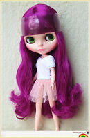 """Takara 12"""" Neo Blythe Doll from Factory Nude Doll Long purple hair SD815 pink S"""