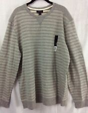 MARC ANTHONY Mens Sweater Sweat Shirt Sz XXL 2XL Gray NWT Retail $60 (ma01-02)