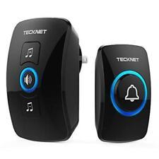 Wireless Doorbell Tecknet Remote Waterproof Plug In Wireless Door Bell Chime Bat