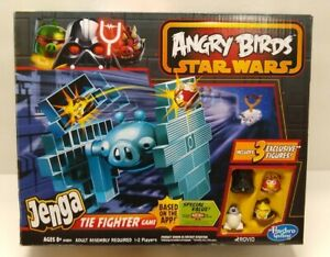 Angry Birds Star Wars Jenga TIE Fighter game Han Solo R2-D2 Luke NEW & SEALED