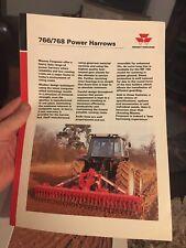 Massey Ferguson MF 766 768 power harrow tractor brochure 1991 3000 series