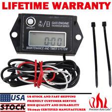 Waterproof Digital Tiny Tachometer Tach Hour Meter Job Timer Resettable Briggs