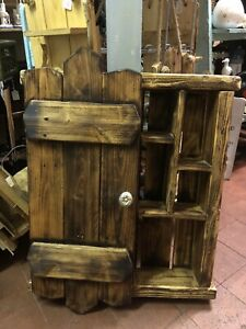 Quirky Wooden Rustic Cabinet
