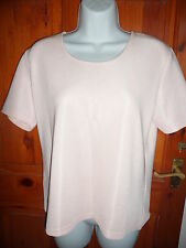 ladies Windsmoor baby pink ribbed short sleeved top size S