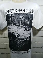 BLACK METAL HLTO WHITE T-SHIRT SIZE LARGE 100% COTTON YAZBEK BRAND