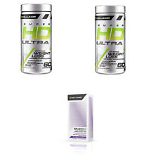 Cellucor *WEIGHT LOSS MEGA STACK* Super HD Ultra 2 PACK & DualBIo = 3 UNITS!