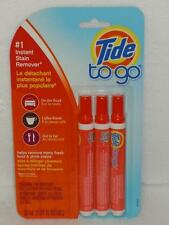 Tide To Go Instant Stain Remover 3 Pack 10mL Portable Pens Procter Gamble 3 PC
