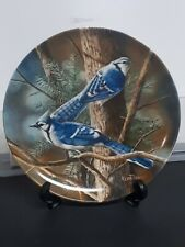 """Birds """"The Blue Jay"""" Knowles Collector Plate by Kevin Daniel P51"""