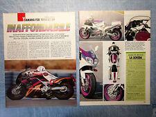MOTOSPRINT993-PROVA /TEST-1993- YAMAHA FZR 1000 EX UP - PROVA NOVITA' - 2 fogli