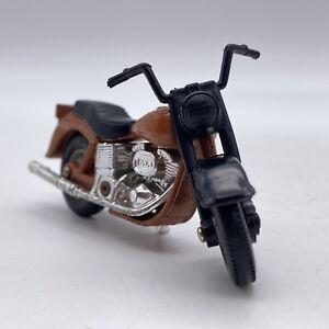 Matchbox Harley Davidson Motorcycle Brown Loose 1981 1-75 Vintage