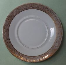LAFARGE LIMOGES China France Vintage OR ET PLATINE Gold Scroll SAUCER SIDE PLATE