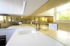 SPLASH BACK -  Polished Brass - Kitchen/Cooker  - All Sizes