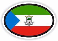 EQUATORIAL GUINEA Flag oval STICKER bumper decal car helmet laptop