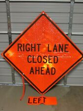 "MDI COMPACT 48"" FOLDABLE CONSTRUCTION WINDMASTER SIGN, LEFT / RIGHT LANE CLOSED"