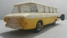 VINTAGE BUS 1974 TOY WIND UP TOURIST METAL HARD PLASTIC USSR CCCP SOVIET RUSSIA