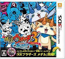NEW Nintendo 3DS Yo-kai Watch 3 Sushi JAPAN import Japanese game