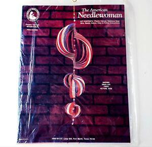 Vintage The American Needlewoman Plastic Canvas Windbreaker 92' Craft Kit CMas
