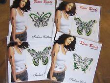 1 Random Light Green Butterfly Stick On Crystal Temporary Tattoo Body Jewellery