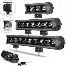 "40"" 34"" 27"" 20"" 14"" 8"" LED Work Light Bar Flood Offroad 4WD SUV Driving Fog Lamp"