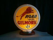 gas pump globe GILMORE & LIGHT STAND reproduction 2 glass faces