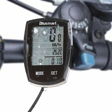 Vélo Cycle Ordinateur Étanche Grand écran écran rétroéclairé Smart compteur kilométrique noir