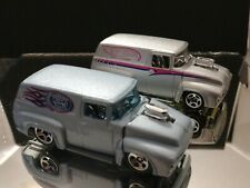 56 FORD PANEL TRUCK LOT OF 2  HOT WHEELS LIMITED FIRST EDITION DELIVERY AND HOF