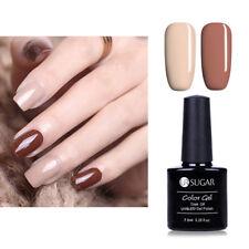 2pcs Nude + Coffee Color Gellack UV Lampe Nagel Soak Off Gel Varnish UR SUGAR