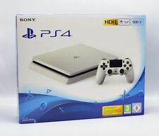 SONY Playstation 4 Slim 500GB Konsole, Glacier White, CUH-2216A Neu OVP