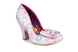 Irregular Choice NEW Nick of Time pink multi floral glitter high heel shoes 3-9