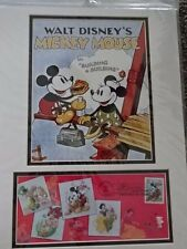 2005 DISNEY USPS FIRST DAY COVER & PHOTO MATT FRAME! ART OF DISNEY! MICKEY
