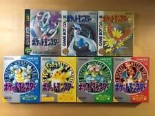 GameBoy 7 Pokemon set Green Red Yellow Blue Silver Gold Crystal GB GBC w/box