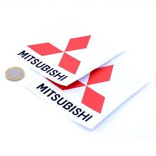 Mitsubishi STICKERS Badge Decal Vinyl Car 100mm x2 Race Racing Rally Lancer Evo