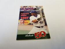 Montreal Expos 1997 MLB Baseball Pocket Schedule - Labatt 50