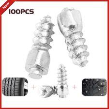 100Pcs Screw in Tire Stud Wheel Tyre Snow Spikes Trim Metal For Car ATV_