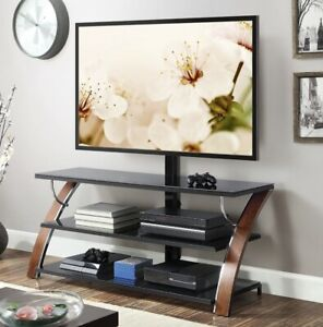 Modern TV stand three shelves Flat panel up to 65 inch TV