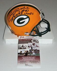 PACKERS Robert Brooks signed mini helmet w/ SB XXXI Champ JSA COA AUTO Autograph