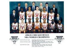 CHICAGO BULLS 3 PEAT CHAMPIONS 1990 1991 1992 8X10 TEAM PHOTOS LOT OF 3 JORDAN