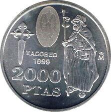 2000 PTAS DE PLATA AÑO 1999 - AÑO XACOBEO